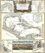 Am�rica Central y el Caribe c. 1800