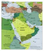 Middle East Political Map 2001