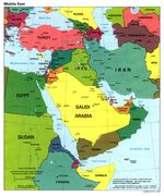 Middle East Political Map 1998