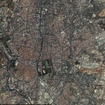 Mapa satelital de Madrid