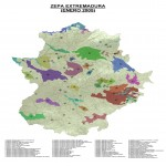 Bird protection areas of Extremadura 2005