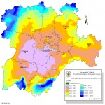 Average yearly rainfall in Castile and León