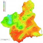 Region of Murcia average yearly rainfall