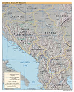 Western Balkans Physical Map 2007