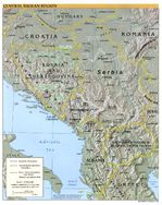 Western Balkans Physical Map 2000