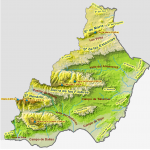 Province of Almería physical map2008