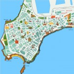 Cadiz city tourist map
