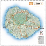 La Gomera island road map