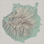 Topographic map of the Gran Canaria Island 2007