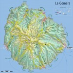 La Gomera Island physical map 2009