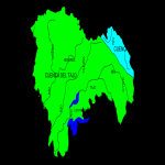 Watersheds and drainage basins in the province of Guadalajara 2008