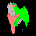 Gabès Governorate Map, Tunisia
