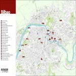 Tourist map of Bilbao