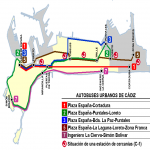 City bus lines of Cádiz 2009