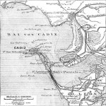 Map of the Bay of Cadiz in 1888