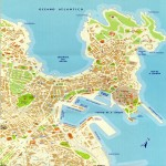 Coruña City Map, Spain