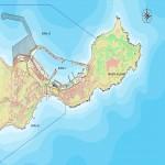 Mapa del puerto de Ceuta