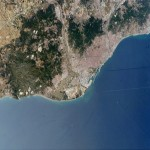Satellite photo of Barcelona 2004