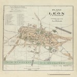 Map of León and its enlargement