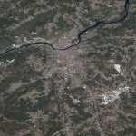 Satellite map of Ourense