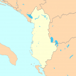 Outline map of Albania