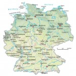 Physical map of Germany