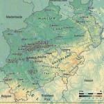 Map of North Rhine-Westphalia 2008