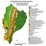 Mapa deTipos de vegetacin del Ecuador 1999