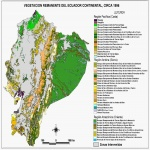 Mapa de Vegetacin remanente del Ecuador continental, circa 1996