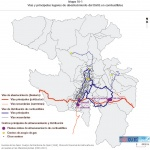Major fuels routes and supply points of the Metropolitan District of Quito 2000-2001