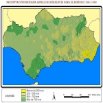Average yearly precipitation in Andalusia