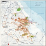 Map of the city of Melilla