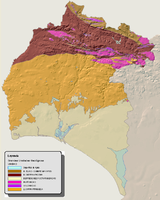 Geological map of the province of Huelva 2008