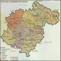 Province of Teruel tourist map