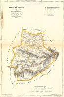 Map of the Province of Ávila 1849