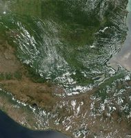 Satellite image of Guatemala