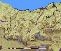 Physical map of Gipuzkoa
