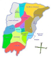 Political map of Chimaltenango