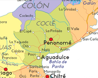Choluteca Department Physical Features Map, Honduras