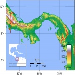 Topographic map of Panama 2007