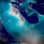 Foto, Imagen Sat�lite de la Isla Andros y Tongue of the Ocean, Bahamas