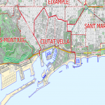 Algiers City Map, Algeria