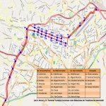 Tram planned route in the city of Cuenca 2011