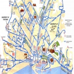 Tourist map of Málaga