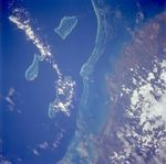 Satellite Image, Photo of Reefs and Islands, Belize