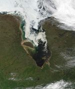 Satellite Image, Photo of James Bay in Summer, Canada