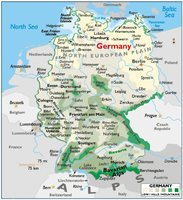 Mapa Físico General  de La Republica de Alemania