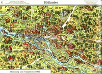 Mapa de Hamburgo y sus alrededores en 1936
