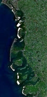 Satellite View of the North Frisian Islands