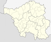 Political outline map of Saarland